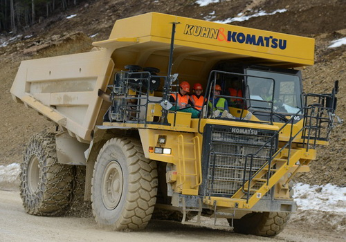 Tinuku Empa and Kuhn built electric truck using Komatsu HD 605-7