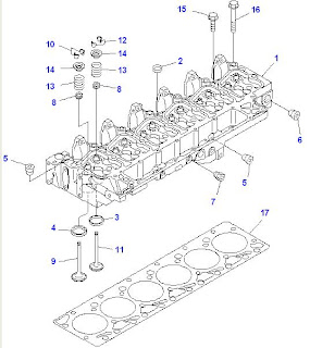 Sparepart Alat Berat Komatsu PC200-7 SAA6D102E-2C Engine