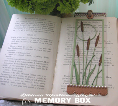 cattails bookmark