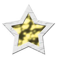 Gümüş çerçeveli altın yıldız