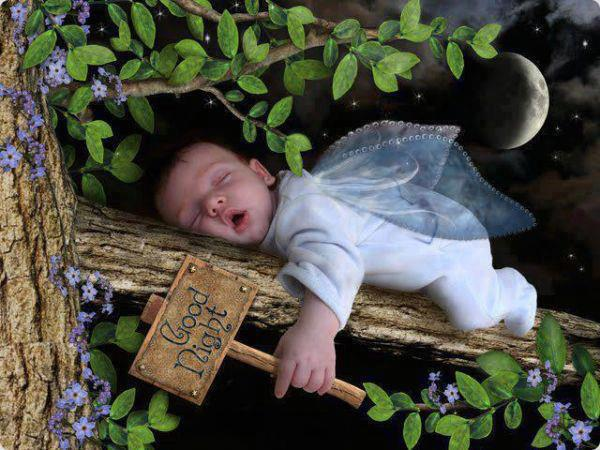 Good Night Cute Baby Photo