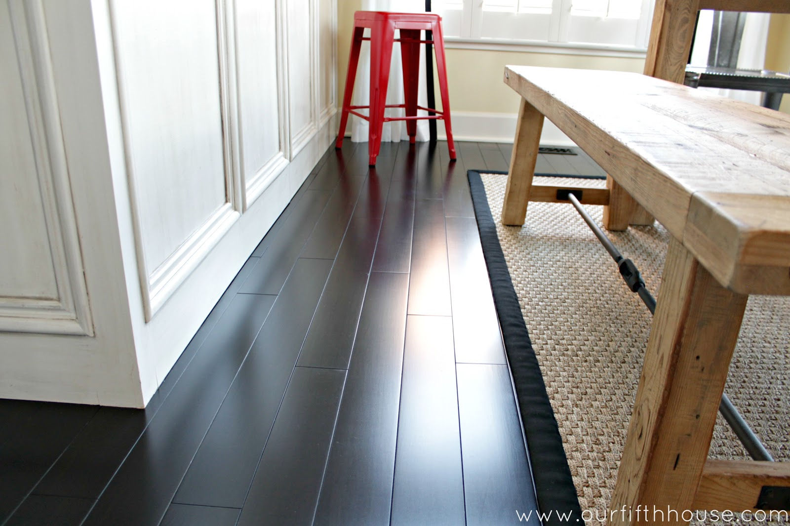 Dark Laminate Flooring In Kitchen How To Clean Dark Wood Floors Our Fifth House