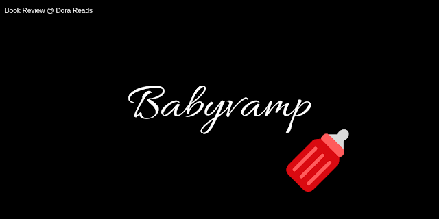 Babyvamp title image with red baby's bottle, black background, and white writing