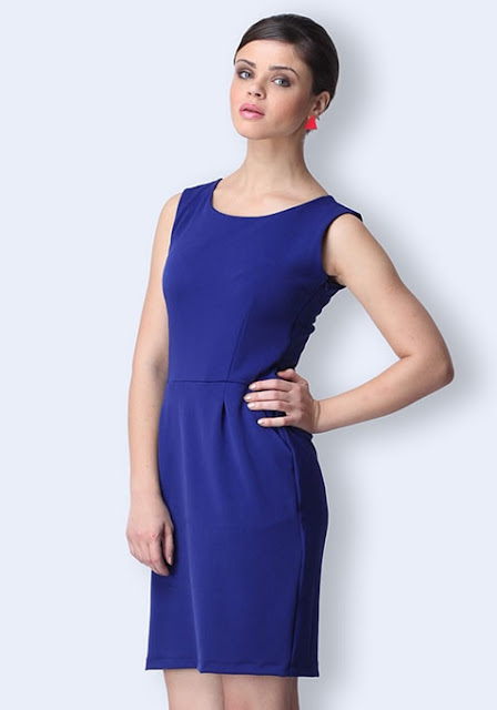 WORKING IT SHEATH DRESS - COBALT INR- 825