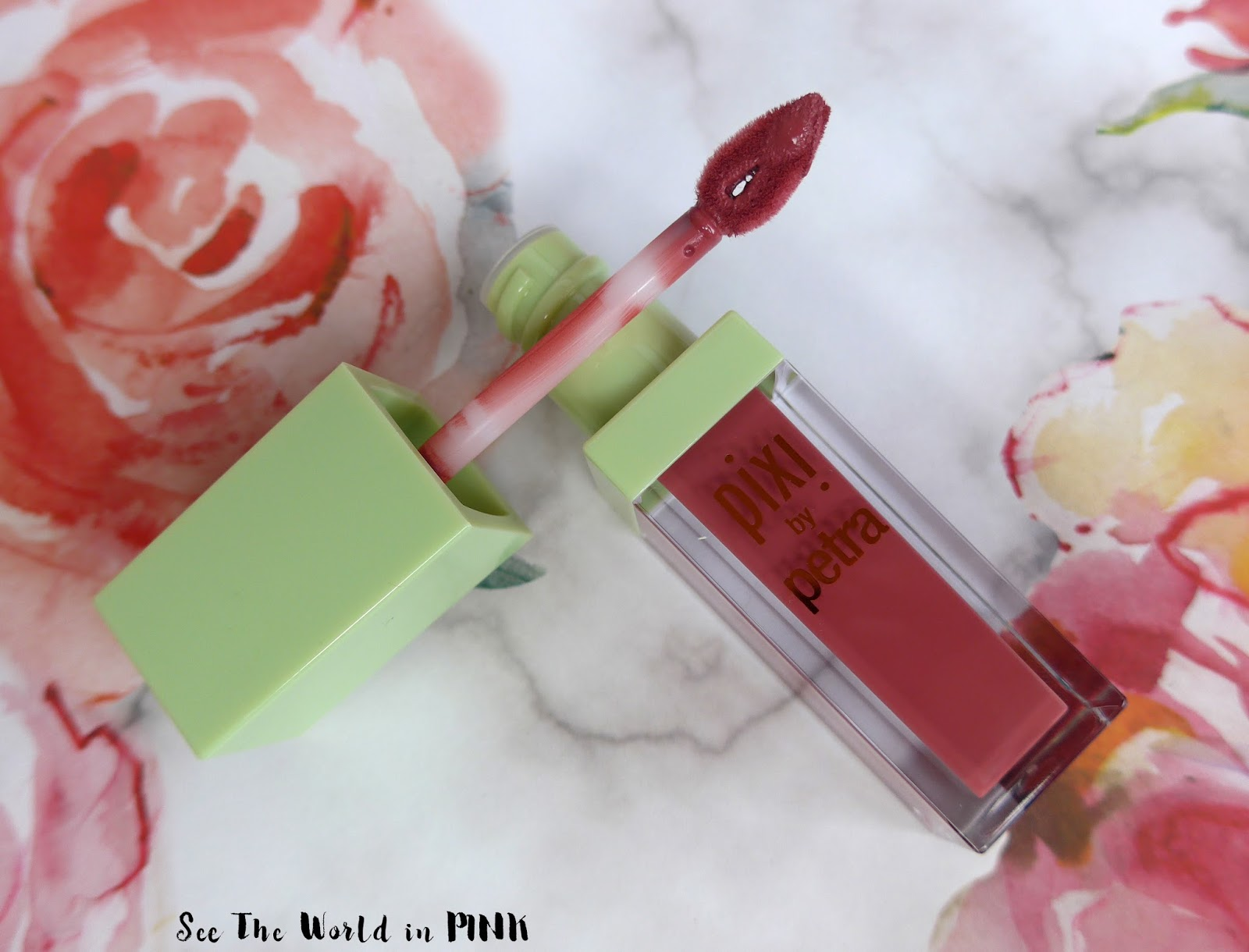 Pixi by Petra Beauty - Mattelast Liquid Lipstick in Really Rose Try-on and Review
