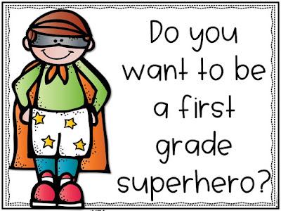 end of year superheroes; first grade superheroes