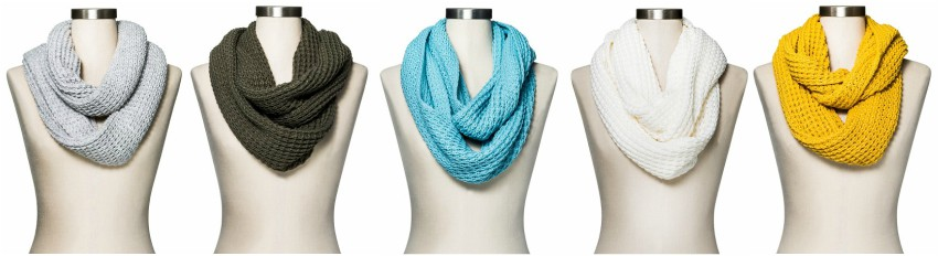 Mossimo Waffle Knit Infinity Scarves $8 (reg $12)