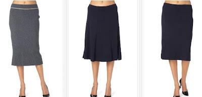 Faldas de lana baratas en gris o azul marino