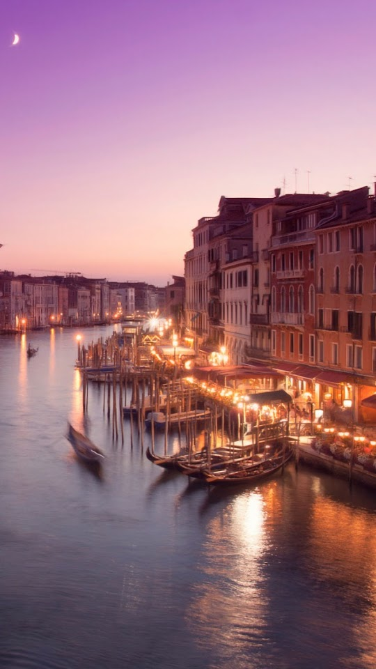 Venice Night   Galaxy Note HD Wallpaper