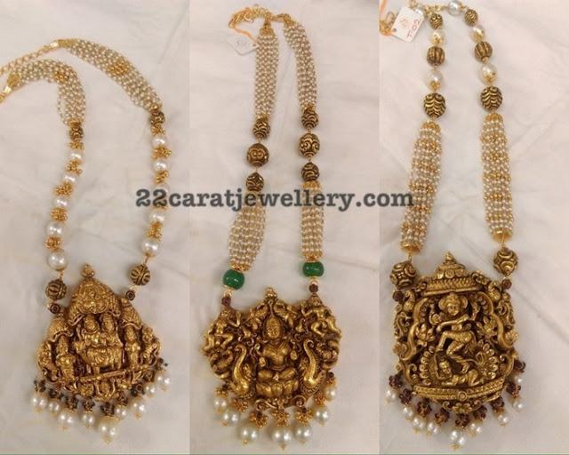 Nakshi Work Shiva Lakshmi Krishna Pendants