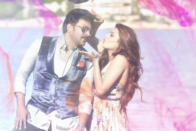 Chiru, kajal pics in You and me song stills from khaidi no 150