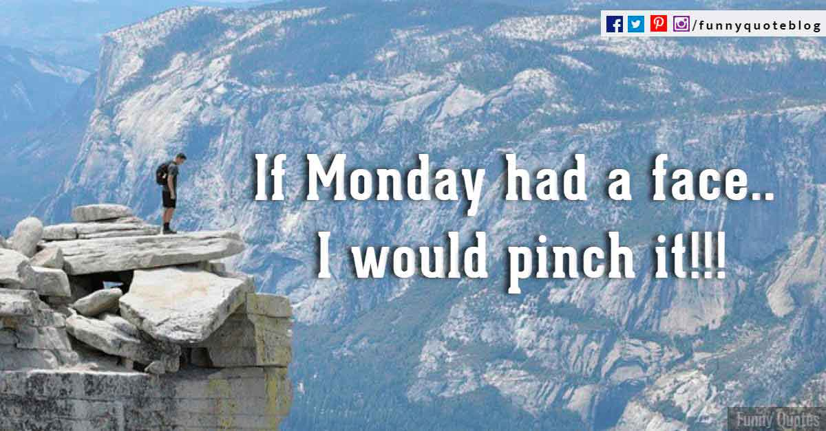 If Monday had a face, i would pinch it.