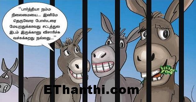 தாவரங்களை தின்றதால் கழுதைகளுக்கு நான்கு நாட்கள் சிறை | For the donkeys Four days prison !