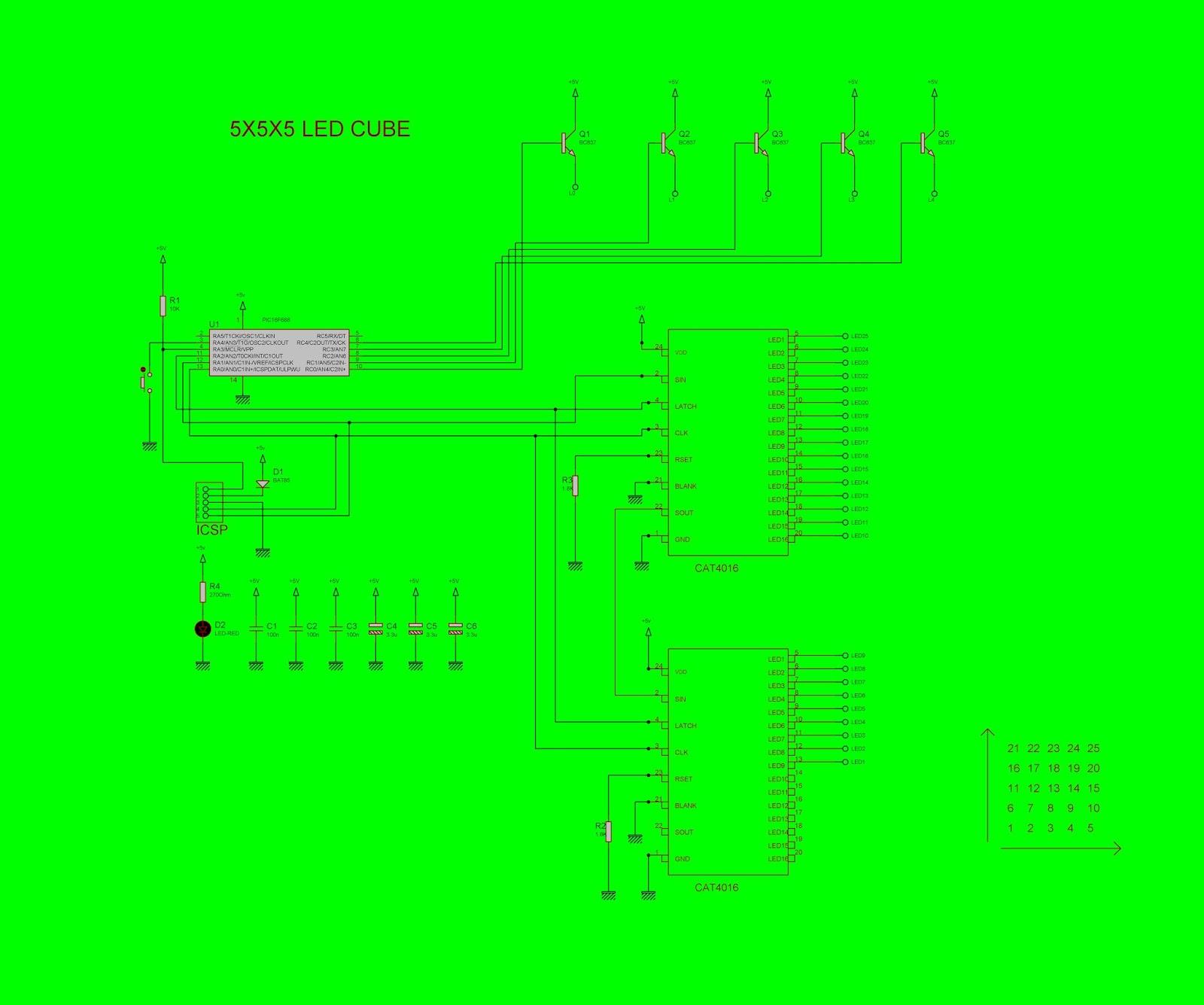 Electronics World: 5x5x5 LED CUBE on