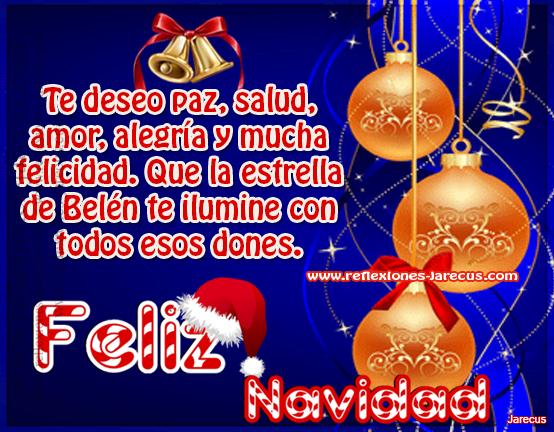 Te deseo paz salud amor alegr a y mucha felicidad - Deseos de feliz navidad ...