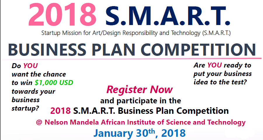 BUSINESS PLAN COMPETITION   2018 S.M.A.R.T at Nelson Mandela