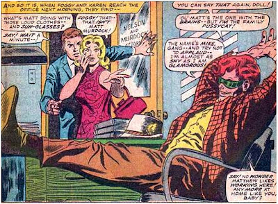 Daredevil. The world celebrates as Mike Murdock makes his first appearance