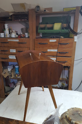 restoration danisch sewing table
