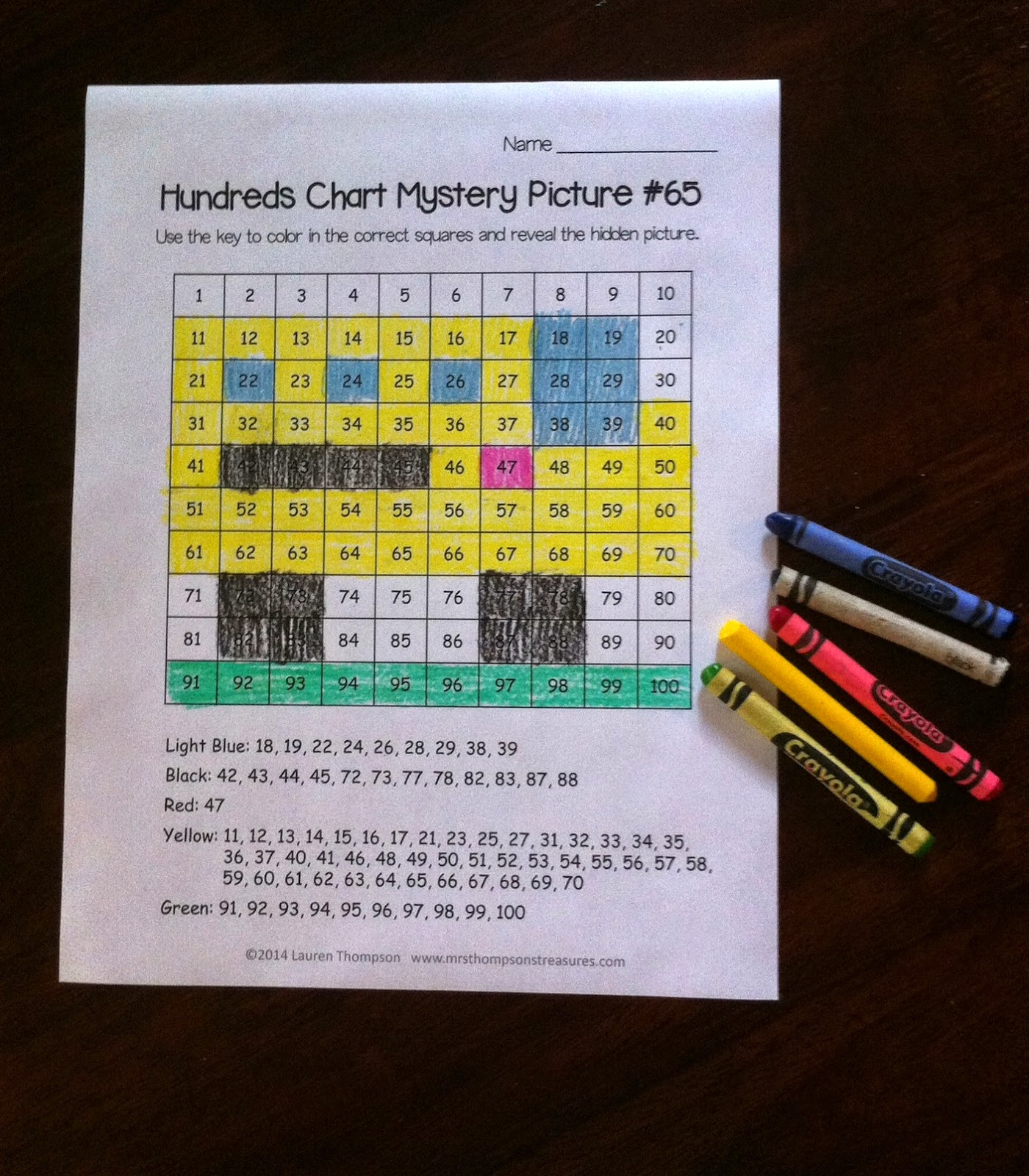 http://www.teacherspayteachers.com/Product/Back-to-School-Hundreds-Chart-Mystery-Pictures-1330214