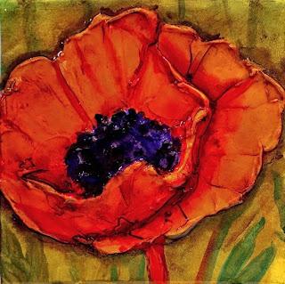 Carol nelson fine art blog poppy flower art painting orange poppy poppy flower art painting orange poppy by colorado mixed media abstract artist carol nelson mightylinksfo