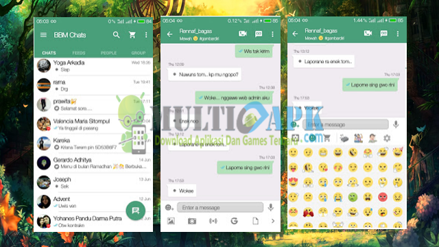 Aplikasi BBM Mod Whatsapp Flat v13 Base Versi 2.13.1.14 Apk For Android