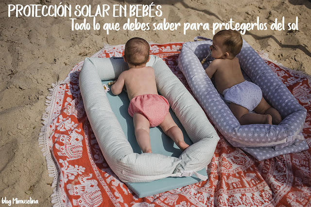 los bebés y la playa bebe y sol protección solar pequeños blog mimuselina