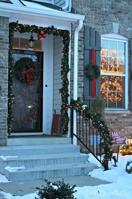 decorating a small porch outside