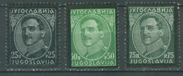 Yugoslavia:Alexander Karađorđević Mourning stamps with black edges/perforations