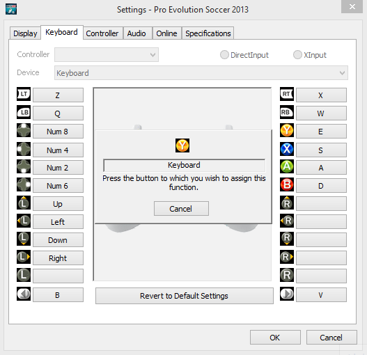 Cara Mengatur Setting Controller PES pada Keyboard 4