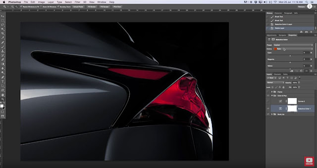 How To Retouch A Car Light In Photoshop