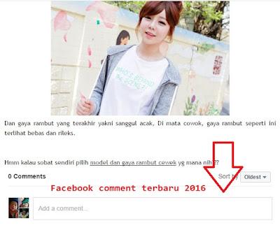 Cara Memasang Komentar Facebook di Blogspot