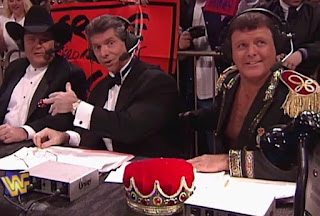WWF / WWE - Wrestlemania 13 - Jim ross, Vince McMahon, Jerry 'The King'  Lawler