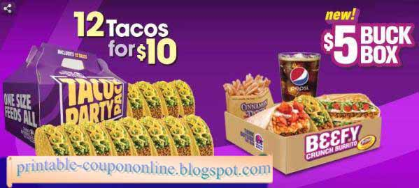 image about Taco Bell Printable Coupons known as Printable Discount coupons 2019: Taco Bell Discount coupons