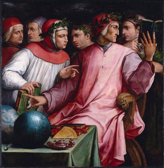 Italian Humanists by Giorgio Vasari: Six Tuscan Poets - Dante, Petrarca, Guido Cavalcanti, Boccaccio, Cino da Pistoia and Guittone d'Arezzo
