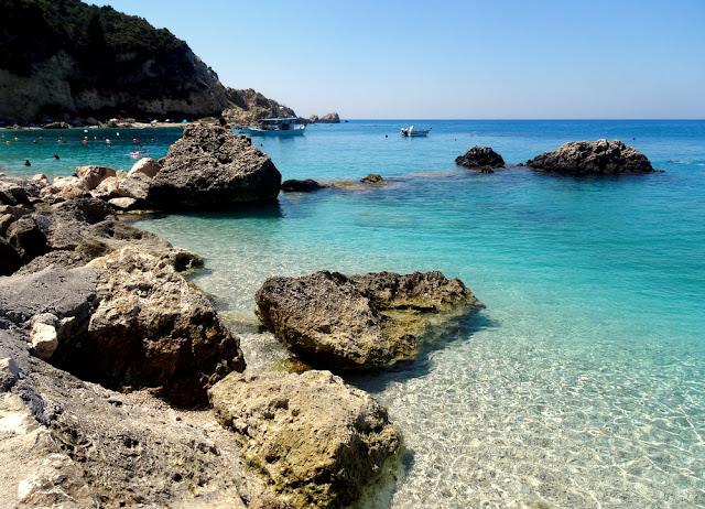 Lefkada, Greece: Gorgeous (and Crowded!) Agios Nikitas Beach