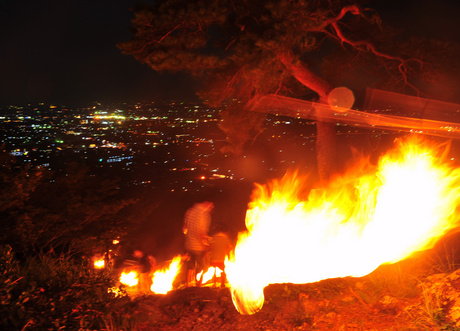 Fire Festival at Mt. Asama, Sano City, Tochigi Pref.