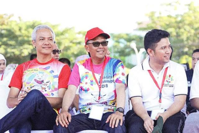 Bupati Trenggalek Ikut Meriahkan Jalan Sehat Bersama Presiden Jokowi Di Makassar