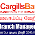 Vacancy In Cargills Bank Limited   Post Of - Branch Manager