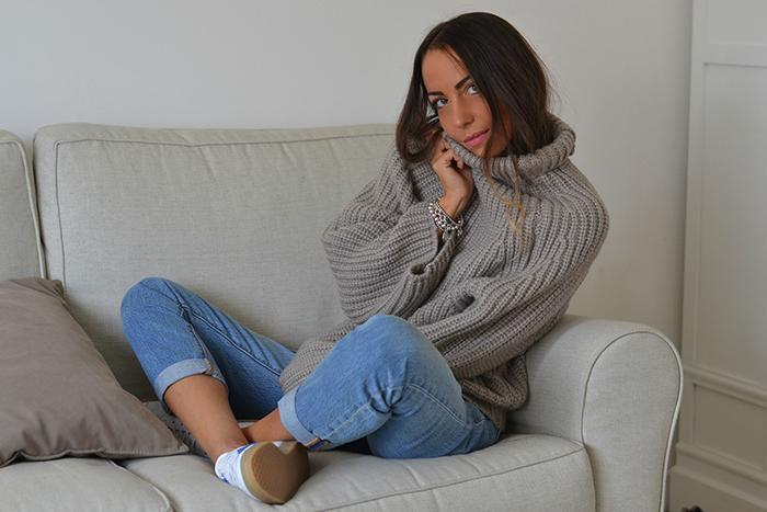 maxi maglione lana