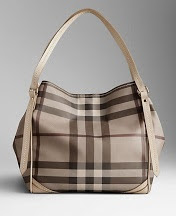 48fde6f57d1a Burberry Small Smoked Check Saddlestitch Tote Bag (38561561)-Trench