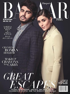 Arjun Kapoor and Kareena Kapoorlook ugly on cover page pf harpers Bazaar India Magazine April 2016