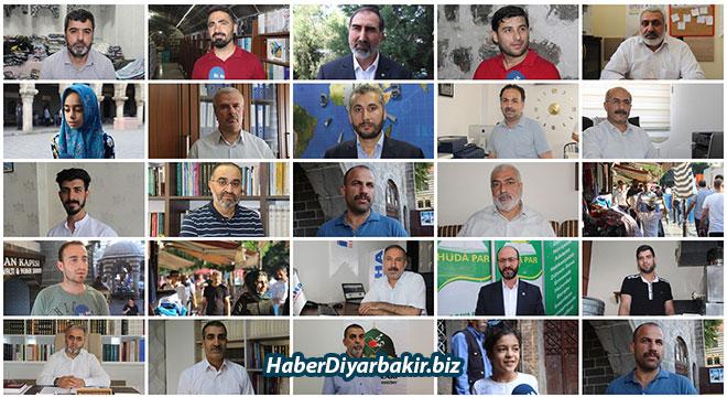 DİYARBAKIR-Yarın tüm Müslümanlar Ramazan Bayramını idrak edecek. Ramazan Bayramı öncesi duygu ve temennilerini İLKHA mikrofonlarına anlatan Diyarbakır'daki siyasi parti temsilcileri, basın mensupları, kurum yetkilileri, esnaf, akademisyen ve vatandaşlar, bayramın İslam âlemine hayırlar getirmesini diledi.