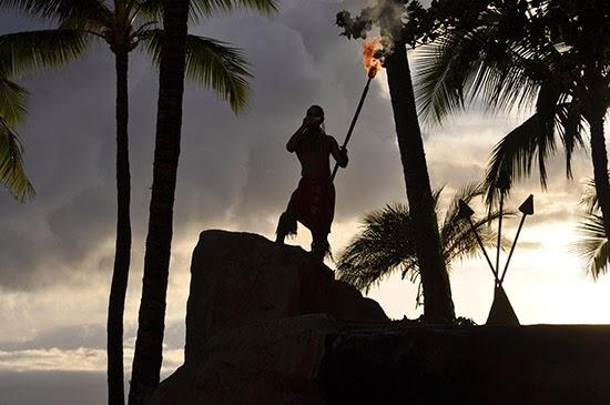 Maui luau sunset