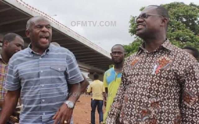 Ex-Local Government Minister Collins Dauda and Chairman of Jospong Group of Companies Joseph Siaw