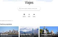 Google lanza Viajes, nuevo sitio web para planificar y organizar viajes online y buscar vuelos y hoteles