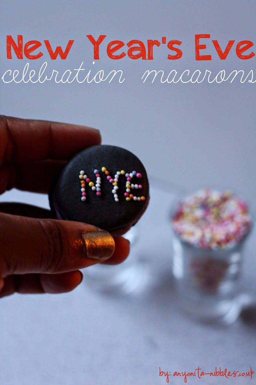 New Year's Eve Celebration Macarons from Anyonita-nibbles.co.uk