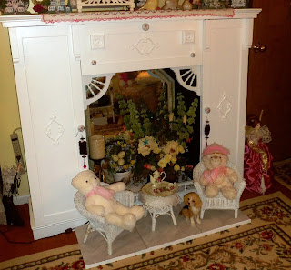 faux fireplace from furniture