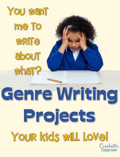 Are your students stuck when asked to write in different genres?  They'll love this writing project that introduces six different grenres.