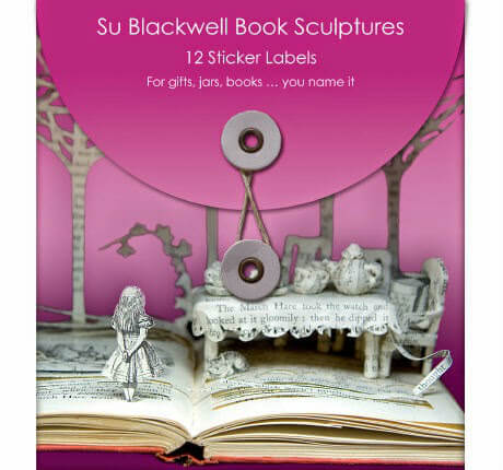 package of stickers featuring Su Blackwell's book art