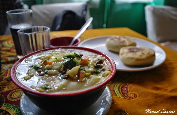 Bodhnath, Double Dorjee Restaurant. Thukpa
